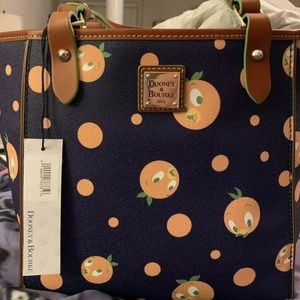 Dooney & Bourke Orange Bird Wristlet & Tote Purse